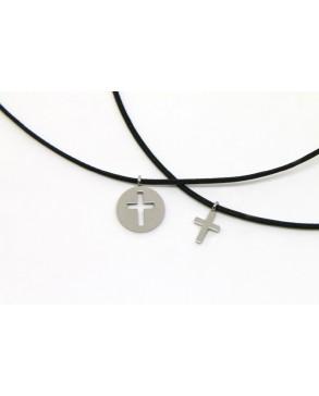 Schmuck-Set Medallion und Kreuz