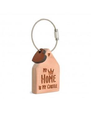 Schlüsselanhänger Haus 'My home is my..'