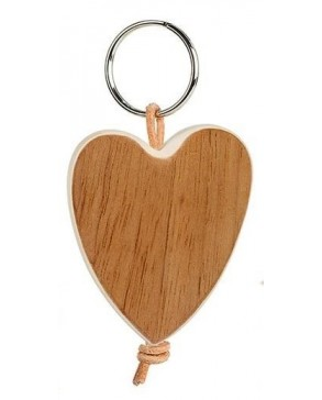 Schlüsselanhänger 'Herz' Nussbaum