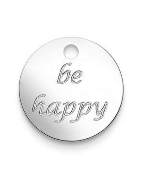 Armkette mit Anhänger 'be happy'