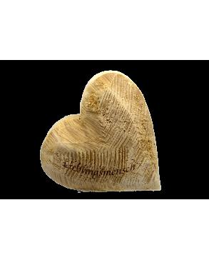 Deko-Holz-Herz aus massivem Naturfarbenem Pappelholz Lieblingsmensch